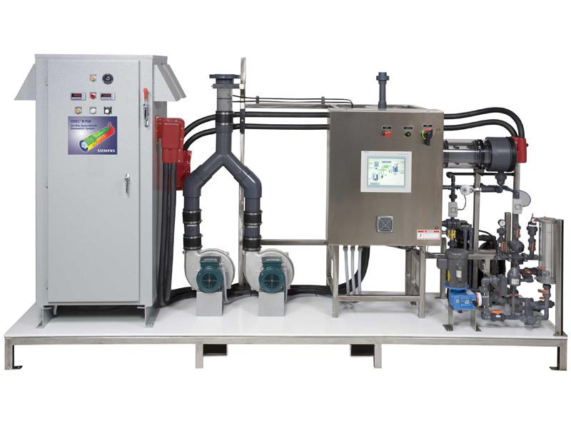 Компактная версия OSEC B1-200, OSEC B2-200, OSEC B4-200 и OSEC B8-200 (от 112,8 до 684 кг экв. хлора в сутки)