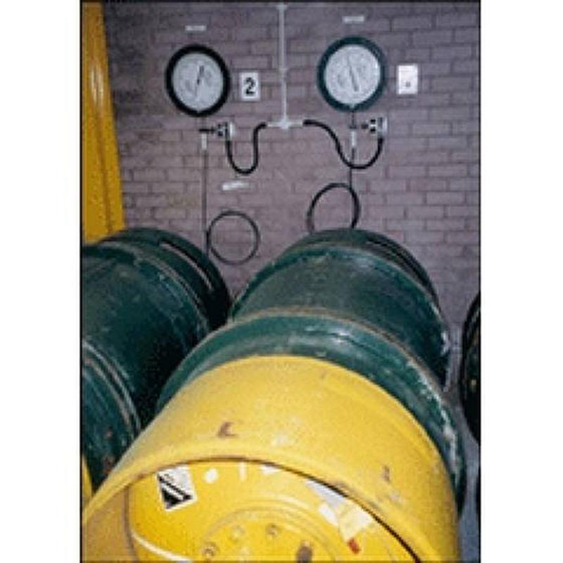 Весы для газовых контейнеров с контролем уровня, расхода и скорости подачи — Тонна-контейнеры Chlor-Scale® — Гидравлические на многотонный контейнер